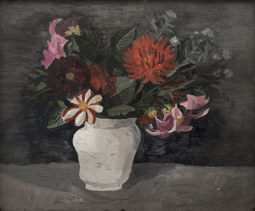 Dahlias in White Jar, Tréboul, 1929 (aka The White Vase). Please click to see an enlarged image